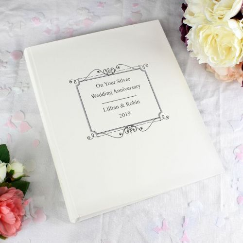 Personalised Silver Traditional Photo Album